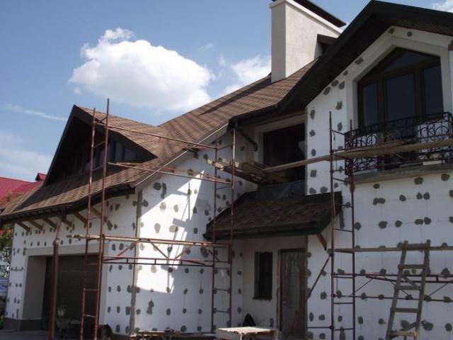 Фото фасада дома штукатурка и камень